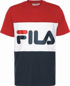 T Shirt Bleu Blanc Rouge : fila day t shirt bleu blanc rouge ~ Nature-et-papiers.com Idées de Décoration