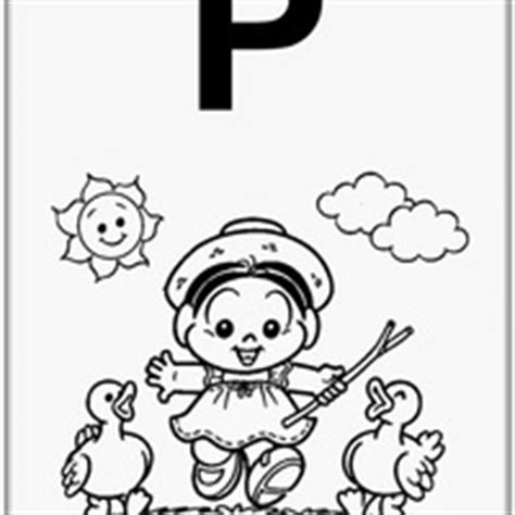 alfabeto da turma da para colorir tudodesenhos