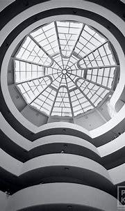 Guggenheim Museum Interior V - Black & White FIne Art ...