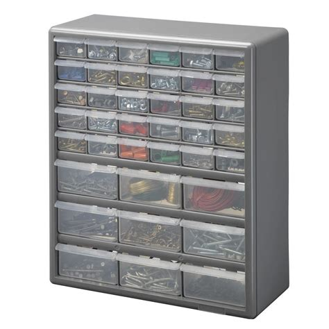 stack on 39 compartment storage small parts organizer ds