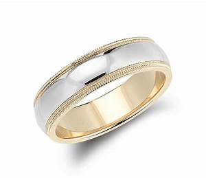 double milgrain comfort fit wedding ring in 14k white and With whitegold wedding rings