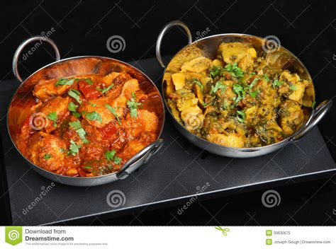 cuisine curry indian curry dishes ob food warmer royalty free stock