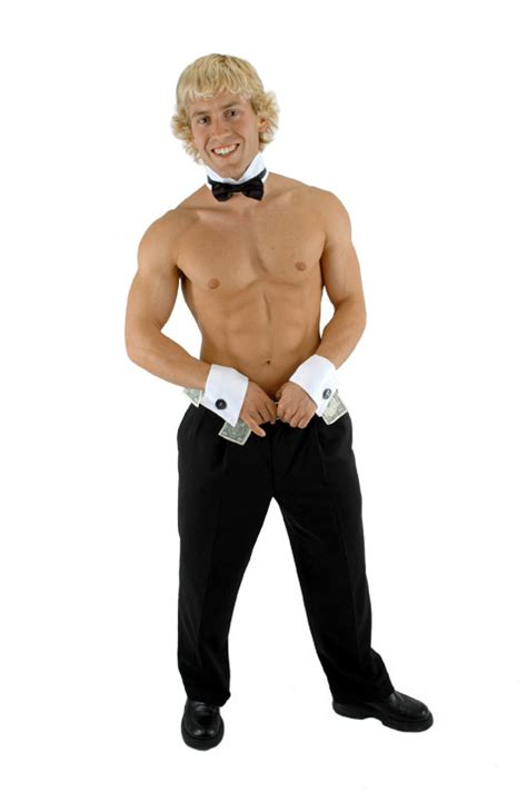 Chip N Dale Dancer by Male Dancer Stripper Chip N Dales Collar And Cuffs Costume