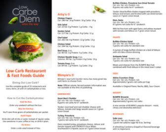 printable keto restaurant foods list  carbe diem