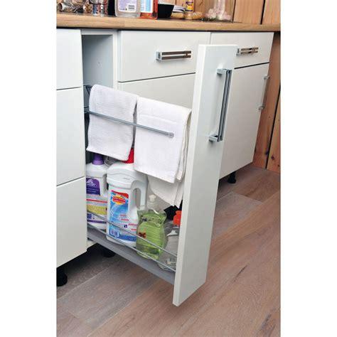 meuble bas cuisine largeur 15 cm rangement coulissant torchons bouteilles pour meuble l 15 cm delinia leroy merlin