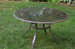 40 glass top patio table for sale in arlington