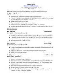 sle resume format for accounting assistant job summary unit clerk resume format 6 resume sle for unit clerk accounting clerk resume