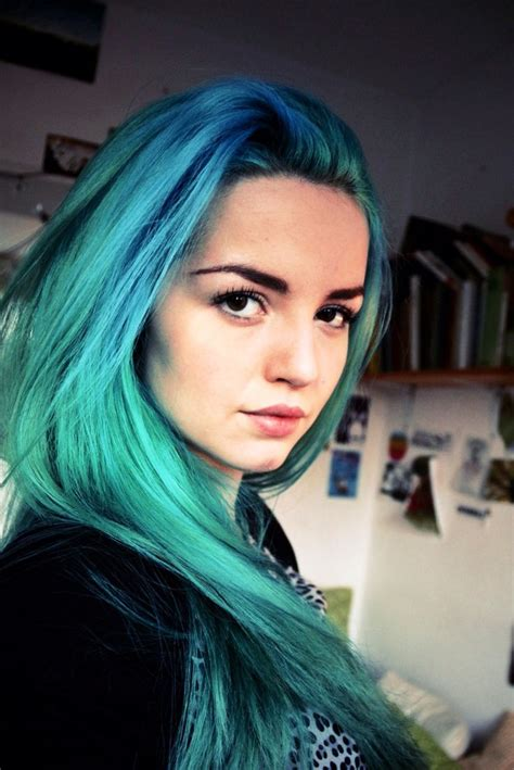 17 Best Images About Teal And Turquoise Hair On Pinterest