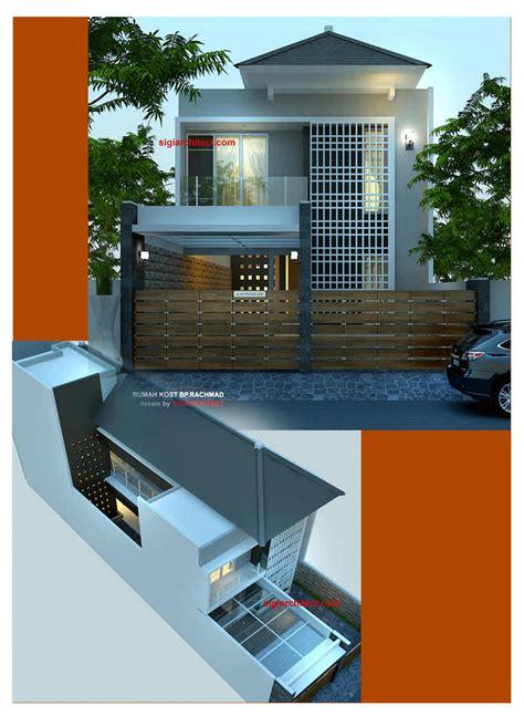 denah rumah kost  lantai january  design rumah kost
