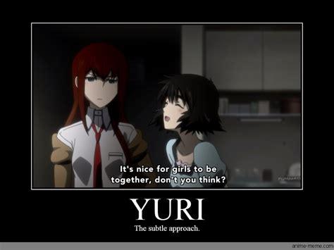 Yuri Memes - steins gate anime memes