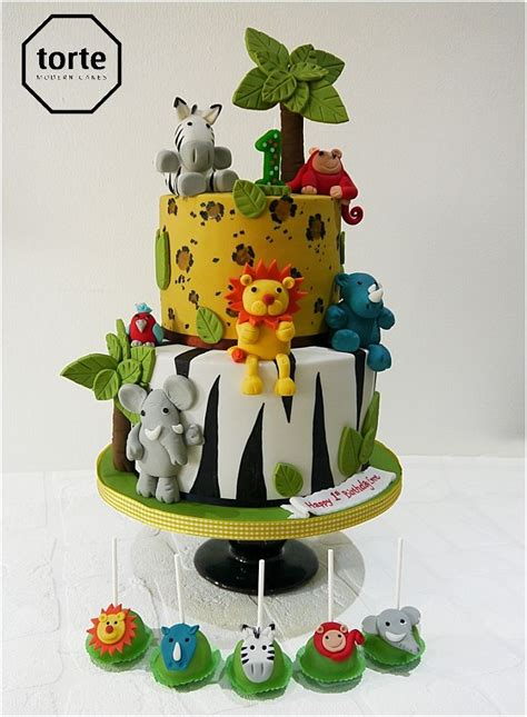 jungle birthday cakes ideas  pinterest zoo