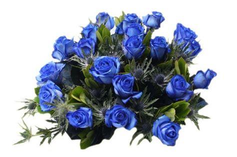 bos bloemen crematie afscheid blauwe rozen begrafenis crematie uitvaart
