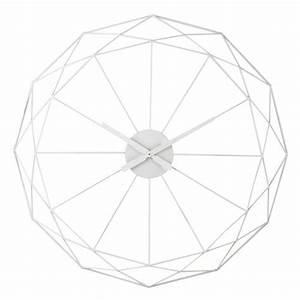 Horloge 80 Cm : horloge en m tal blanche d 80 cm origami maisons du monde ~ Teatrodelosmanantiales.com Idées de Décoration