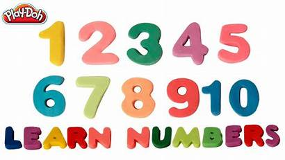 Numbers Number Clipart Learning Play Doh Chart