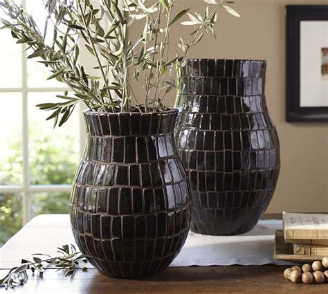 mosaic vases brown pottery barn