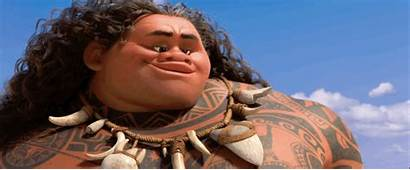Moana Maui Rock Disney Smiling Eyebrow Gifs