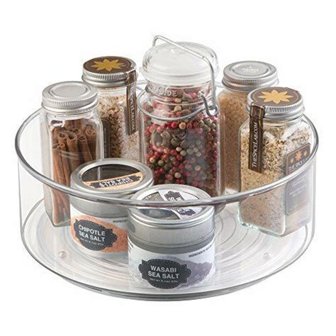 Kitchen Organization Turntable by Mdesign Lazy Susan Turntable Spice Organizer Bin For
