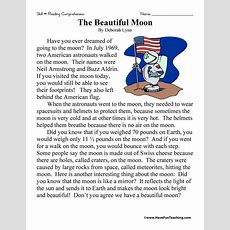 The Beautiful Moon Reading Comprehension Worksheet Have
