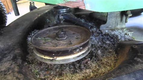 john deere lawn tractor mower deck repair youtube