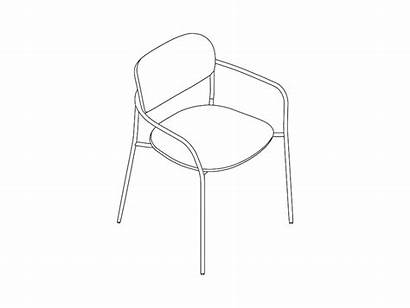 Chair Upholstered Arms Portrait Models Drawing Line