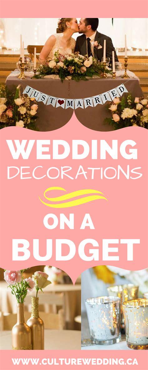 wedding decorations   budget