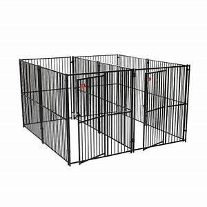 Lucky dog 6 ft h x 5 ft w x 10 ft l european style 2 for Dog kennel flooring home depot