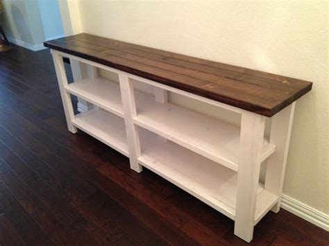 white wood console table rustic x console table thelotteryhouse