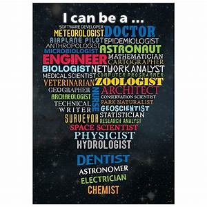 Primary Writing Lines Stem Careers Inspire U Poster Ctp7273 Primary