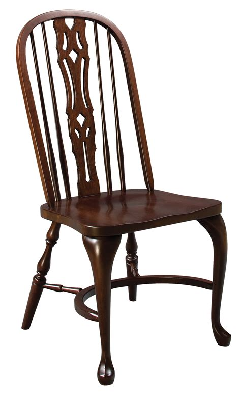 eh shenandoah bow back side chair amish furniture