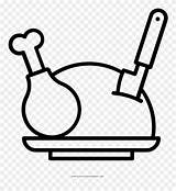 Chicken Roast Coloring Clipart Pinclipart Middle sketch template