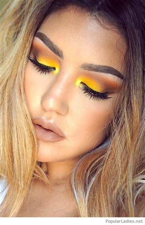 amazing yellow eye makeup style makeupeyeshadows mak