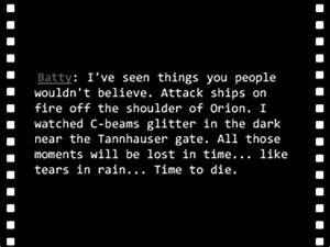 Quotes From Bla... Blade Runner Love Quotes