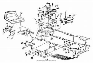 Mtd 144q848h062  1994  Parts Diagram For Seat  Frame  Lower