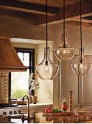 Kichler Lighting 42046OZ Everly 1 Light Pendant Old Bronze Finish Oil Rubbed Bronze Standard Pendant Light With Clear Shade At Vetraio Oil Rubbed Bronze Kitchen Island Light Toffee Art Glass By Clear Glass Prism Pentagon Pendant Light Geometric Pentagon Panels Of
