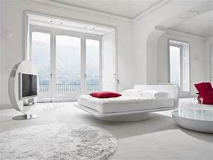 Leather bed for white bedroom design giotto by bonaldo for White bedroom designs photos