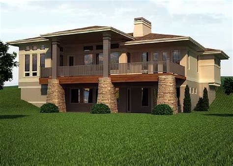 plan rw prairie mountain pleaser house plans basement ideas  decks