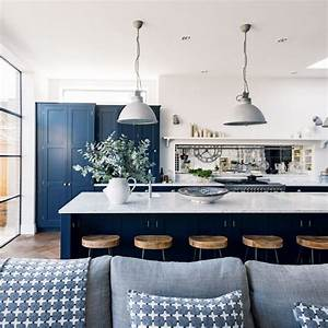 Navy kitchen ideas ideal home for Kitchen cabinet trends 2018 combined with colorado canvas wall art