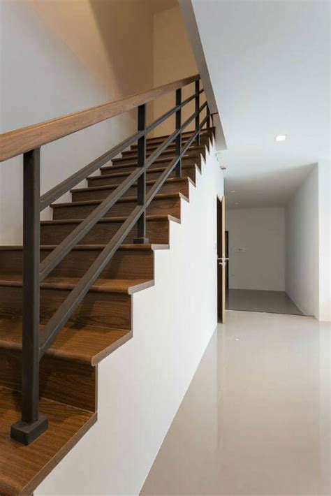 4 Homes With Design Focused On Beautiful Wood Elements by Wood And Metal Stair Railing Stun 55 Beautiful Ideas