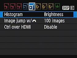 canon ti review modes menus