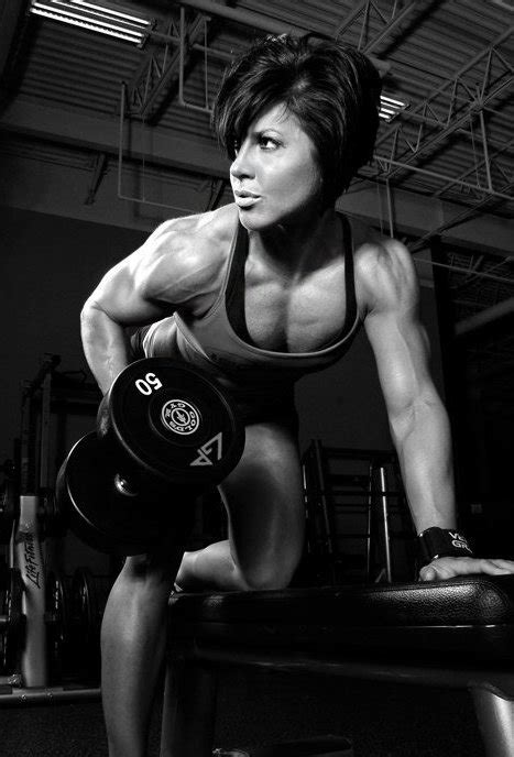 Bent Over Dumbbell Rows with a 50 | FemaleMuscle, Female