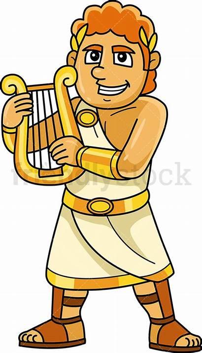 Apollo Greek God Cartoon Clipart Vector Gods