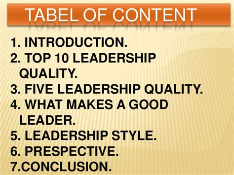 characteristics   good leader essay