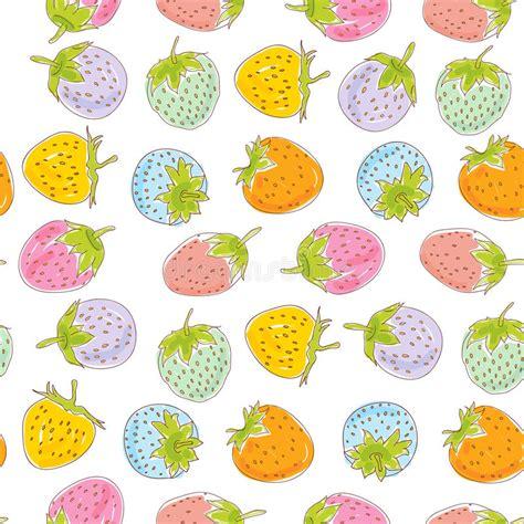 Seamless Strawberries Background Stock Illustration ...