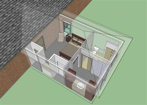 wheelchair accessible mother  law bedroom suite addition house plans floor plans