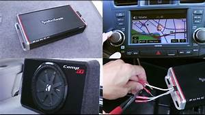 Car Amplifier And Subwoofer Installation