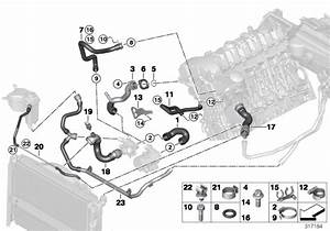 Bmw 323i Hose  Radiator Bottom-thermostat  Cooling  Hoses  System