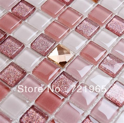 glass mosaic tile kitchen backsplash cgmt195 pink