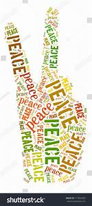 Peace Sign Colorful Word Collage On Stock Illustration ...