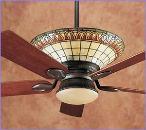Tiffany ceiling fans with lights