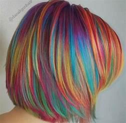 Best 25  Multi coloured hair ideas on Pinterest   Rainbow